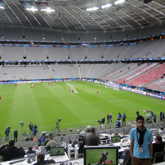 Freelance Producer of feature: 2012 UEFA Champions League Final